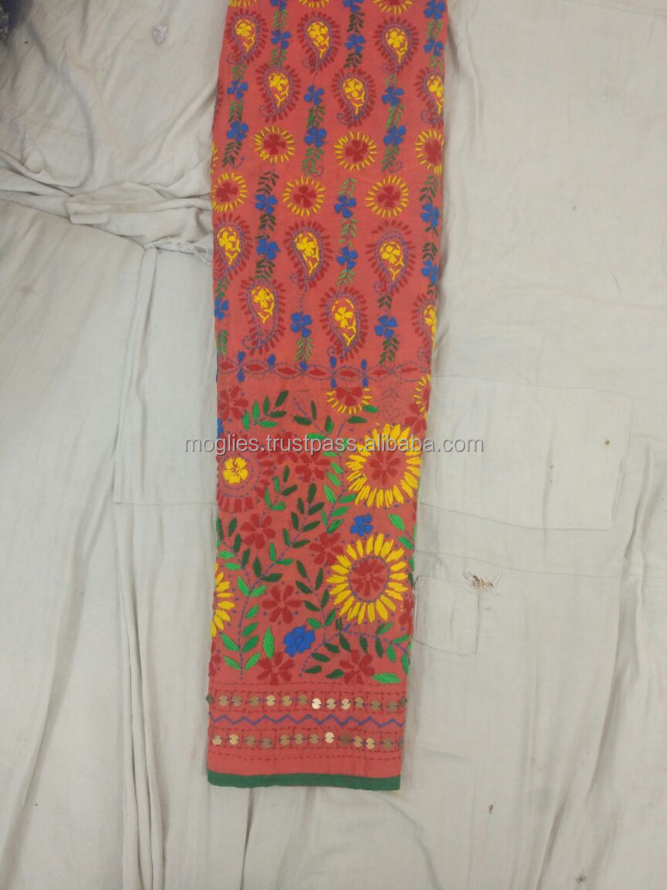 Colorful Phulkari pant for wedding