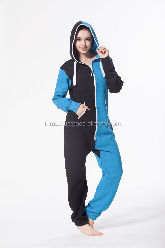 ONESIE JUMPSUIT FOR WOMEN, TWO COLOR COMBINATION JUMPSUIT ONE PIECE FOR WOMEN'S