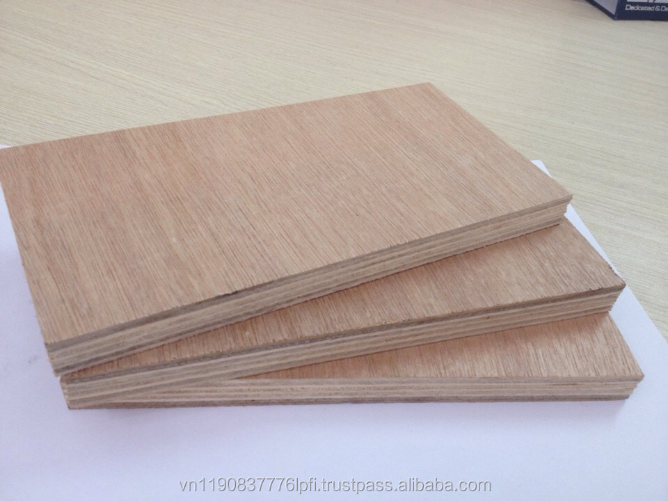 High Quanlity plywood for furniture made in Viet Nam 12mm Commercial plywood
