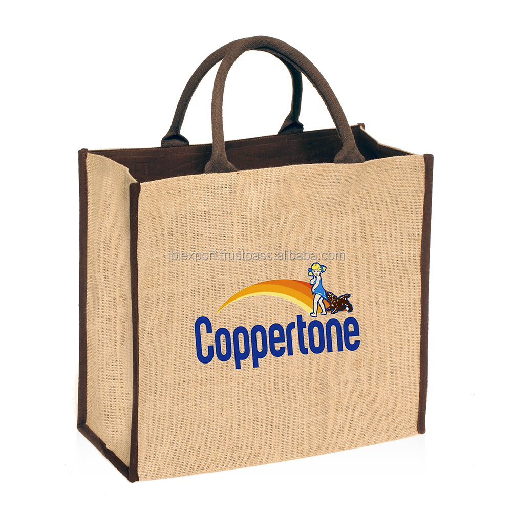 Jute shopping bag for promotional shopping with jute bag 2017