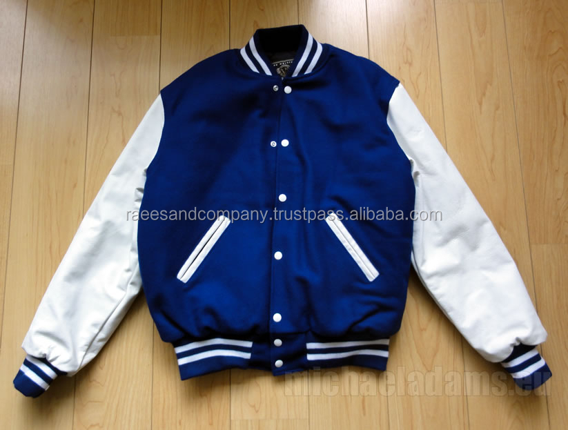 Custom Men baseball blue Dimond Quilted baseball Satin Varsity Jackets with front pocket