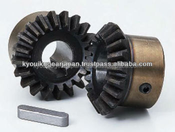 Hardened straight miter gear Module 2.5 Carbon steel Ratio 1 Made in Japan KG STOCK GEARS