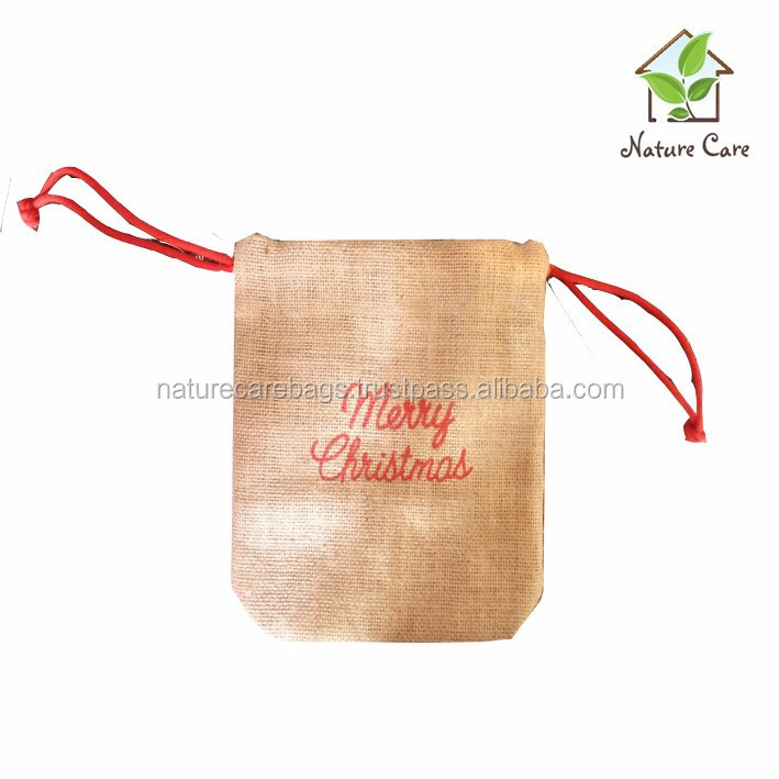 cheap christmas gift drawstring bags/Promotional Logo Bread Shop drawstring Custom Cotton Bag