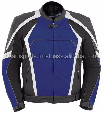 Blue pure leather jacket
