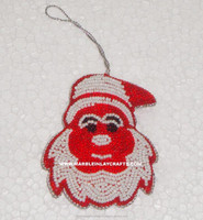 Santa Clause Beaded Christmas Ornaments