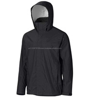 classic value oriented men's Rain Jacket breathable fabric with ventilating PitZips and Pack Pockets