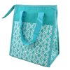 Lunch Bag Twist Turquoise Pink