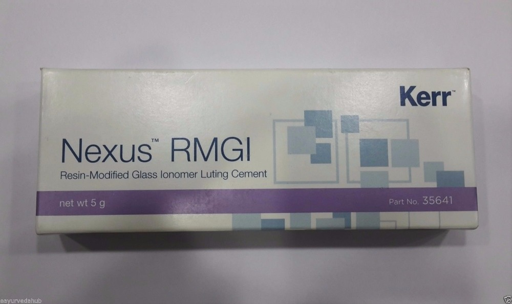 Kerr Nexus RMGI Resin Modified Glass Ionomer Dental cement 5gm