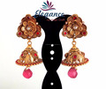 2015 BIG JHUMKA EARRINGS-WHOLESALE SOUTH INDIAN GOLD PLATED JHUMKA EARRINGS-PEARL JHUMKA EARRINGS ONLINE WHOLESALE