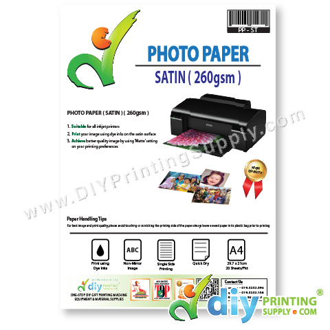 Photo Paper 260gsm (Satin) (A4) (20 sheets/pkt)