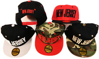 New Jersey Flat Bill Snap Back Hats Caps