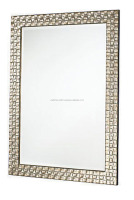 Betsy Wall Mirror Rectangular In Mosaic Silver Frame, Decorative wall mirror
