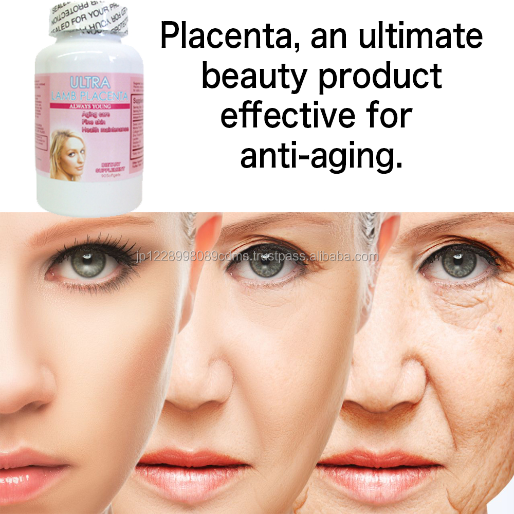 Highly penetrable anti-wrinkle supplement with lamb placenta Japan distributor