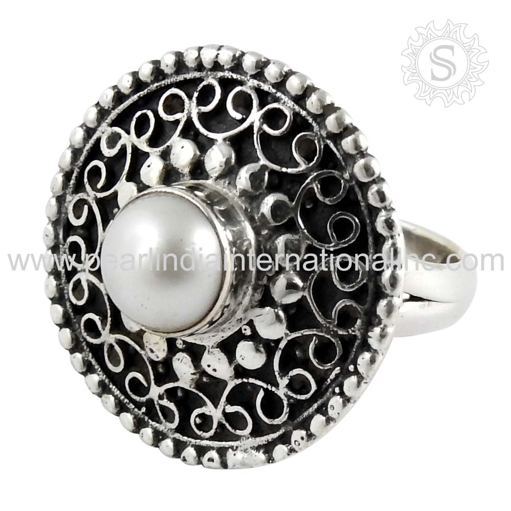 gorgeous Pearl Ring 925 Sterling Silver Jewelry Wholesale Silver Jewellery Online