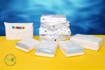 100% Cotton Twill Prefold Diapers (Bleached,Half Bleached & Unbleached)