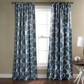 Triangle Home Fashions Geo Blackout Window Curtains (Blue)
