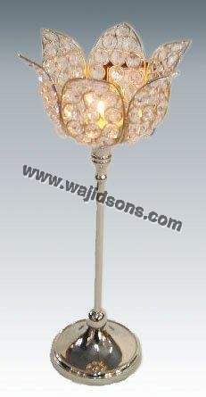 Hot shiny crystal candle stands for for wedding collection in India