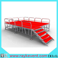 RK factory cheap church stage used mobile portable