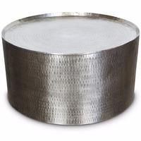 ALUMINIUM TABLE, ROUND SHAPE TABLE, HAMMERED METAL COFFEE TABLE