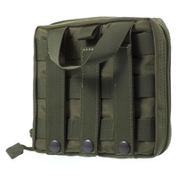 Dual Zipper Tactile First Aid Wrist Pouch Bag for Hunting Camping Outdoor Survival - Army Green