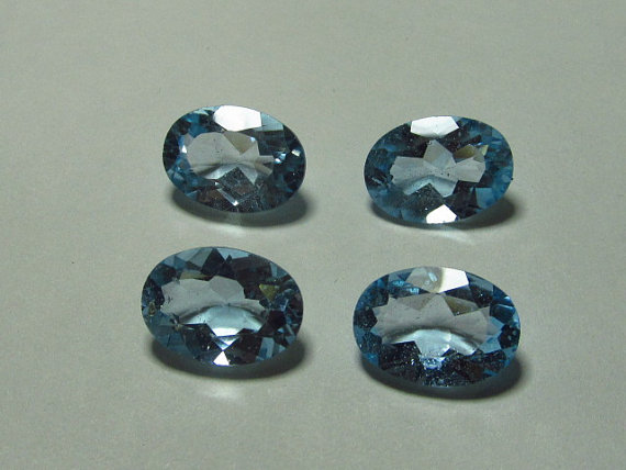 Top Quality Natural Sky Blue Topaz 5x3mm Oval Cut Loose Gemstone