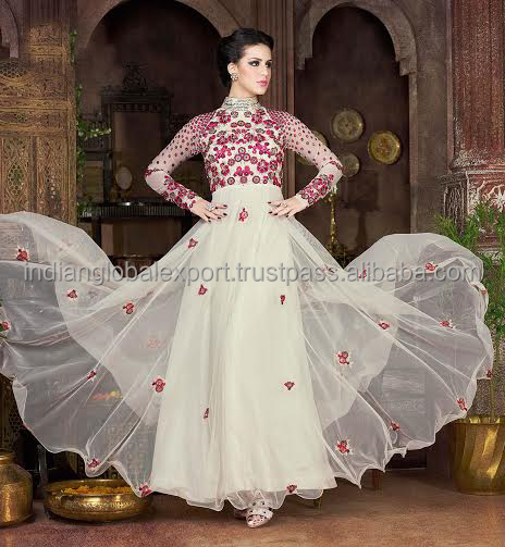 Party wear snow white coloured gown elegant suits for girls and woman