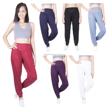 Women's Solid Long Yoga Pants Rayon Spandex Harem Sports trousers