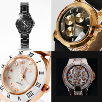 Fashion Watches / Metal / Synthetic Leather / Chrono Type / Flower