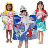 2015 new products 100% cotton terry hooded towels for kids