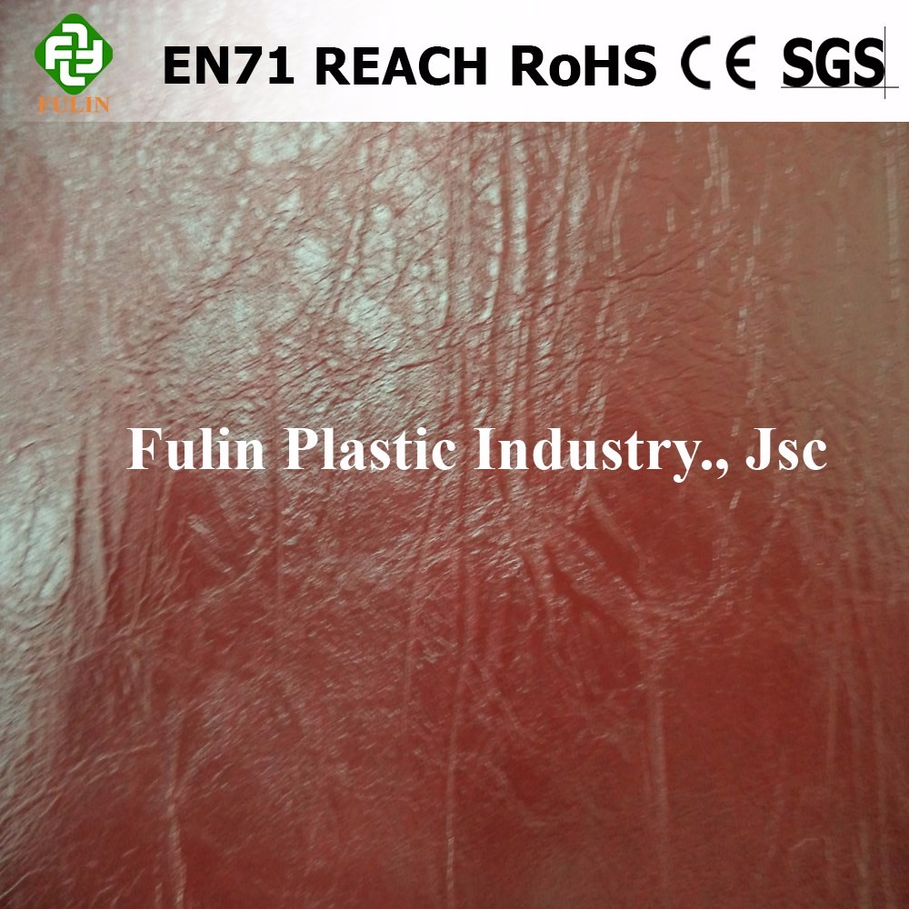 Embossed New design quality pvc leather for shoe making