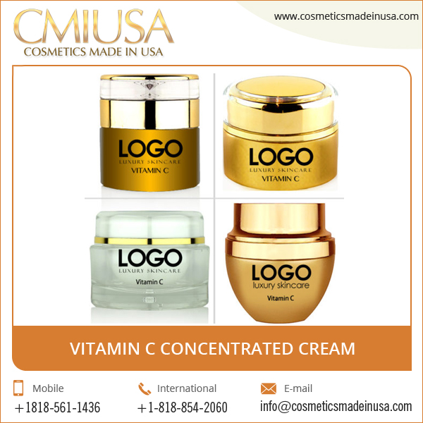 Start your own brand. High Quality Vitamin C Concentrated Cream Custom Made in Cosmetics