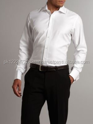 Mens Cotton White Shirt and Black Pant for Men