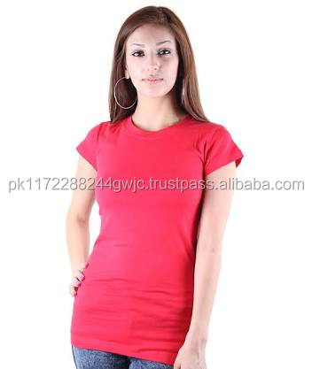 OEM Customized Wholesales Fast Delivery o neck classic women t shirt/Supreme Quality o neck cotton t-shirt for women Cheap Price