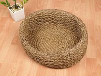 Water hyacinth pet bed/ wicker pet beds/ one cat beds/ one dog beds/ natural wicker pet beds