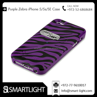 Light Weight Easy to Use Purple Zebra Pattern Durable Cell phone Lighter Case for iPhone 5 Series