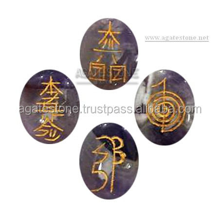 Agate Stone Export - Wholesale Metaphysical Store : Pagan , Wiccan , and Spiritual Sets - Amethyst Oval Reiki Set