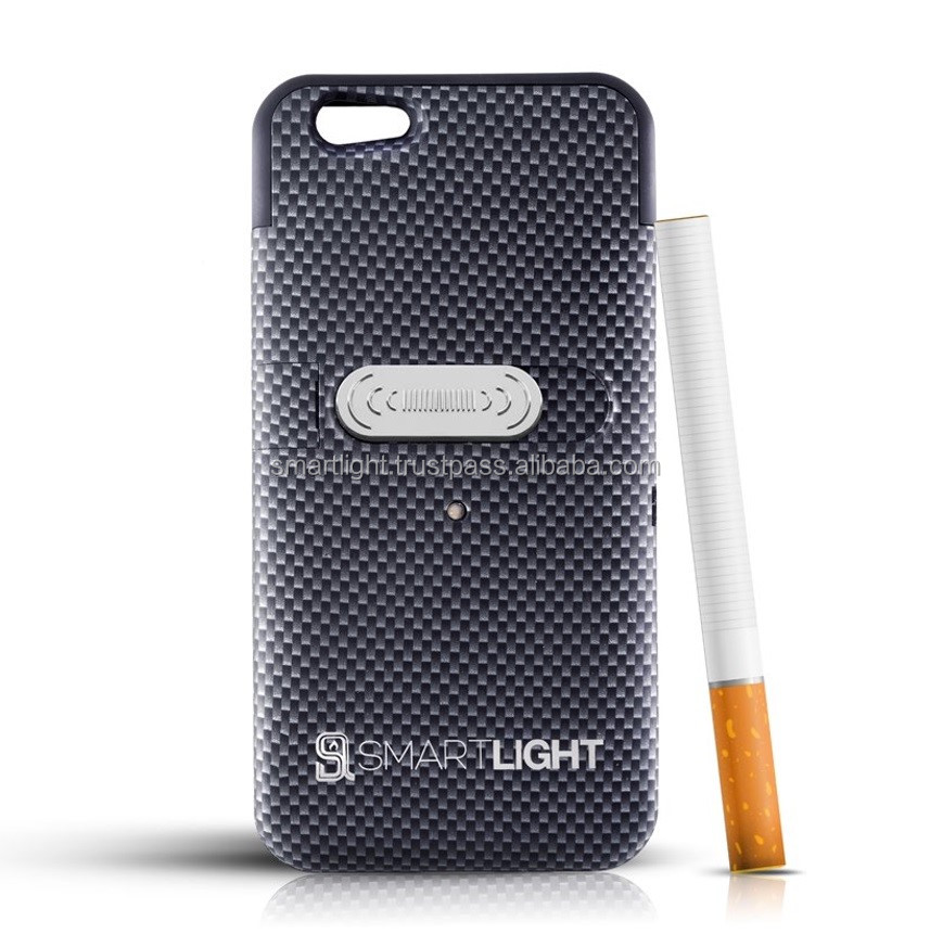 Wholesale hot selling Carbon mobile phone cigarette lighter cover for iPhone 6 6S