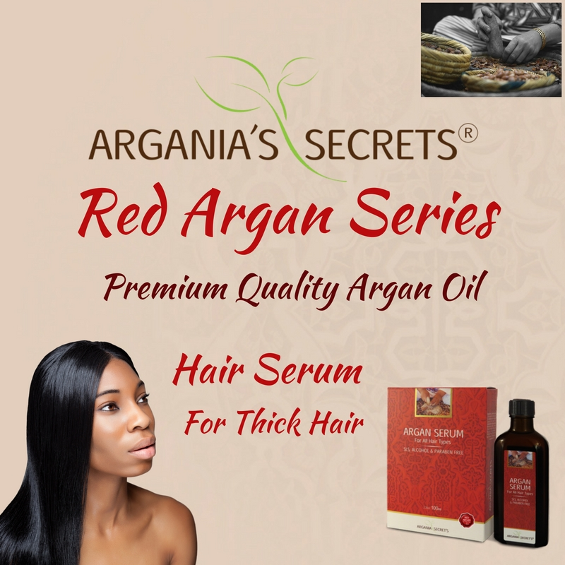 Premium Quality Argan Oil Argania's Secrets Series Hair Serum Treatment For Thick Hair