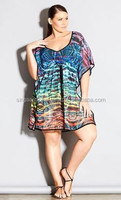2015 New Style Sexy Beach Kaftan for Women / Plus Size / Digital Animal Print