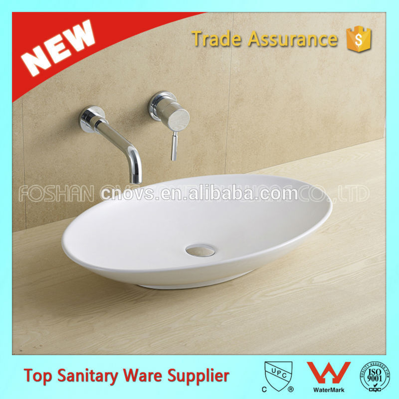 CUPC One Piece Chinese Modern Commercial Ceramic White Bath Sink Price, Bathroom Sink and Countertop