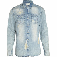 denim shirts - gents Long Sleeve Value Denim Shirt