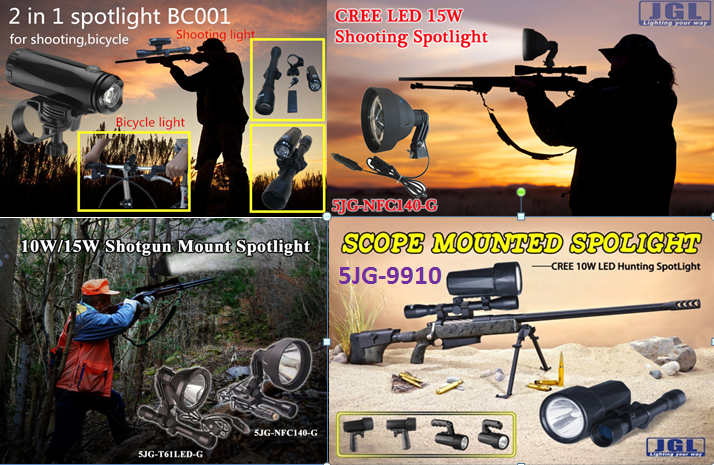 Newest product JGL 45W led hunting light rechargeable emergency