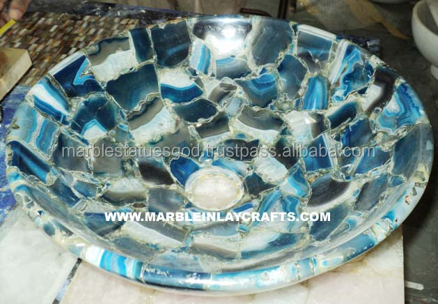 Natural Gemstone Agate Sink Bowl for Kitchen