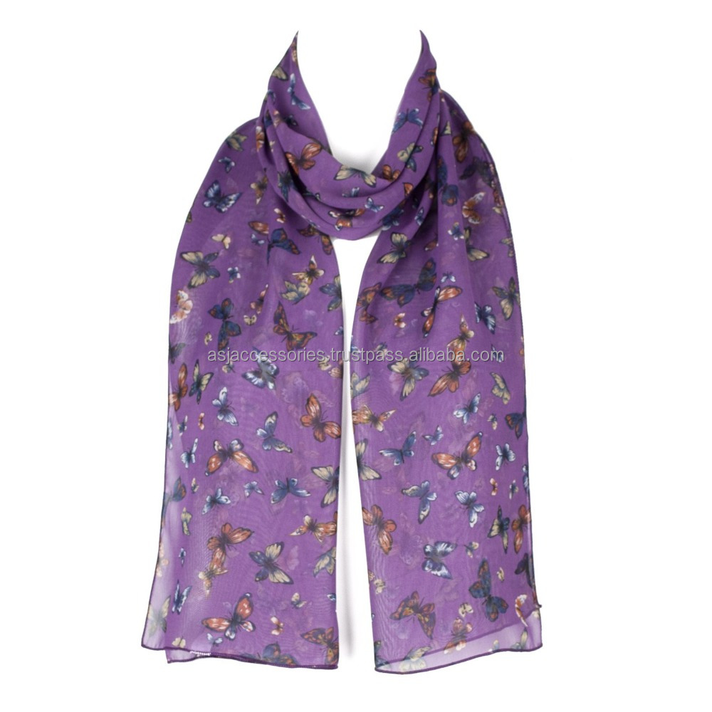 Free Samples Low MOQ Printing Custom Polyester Scarf