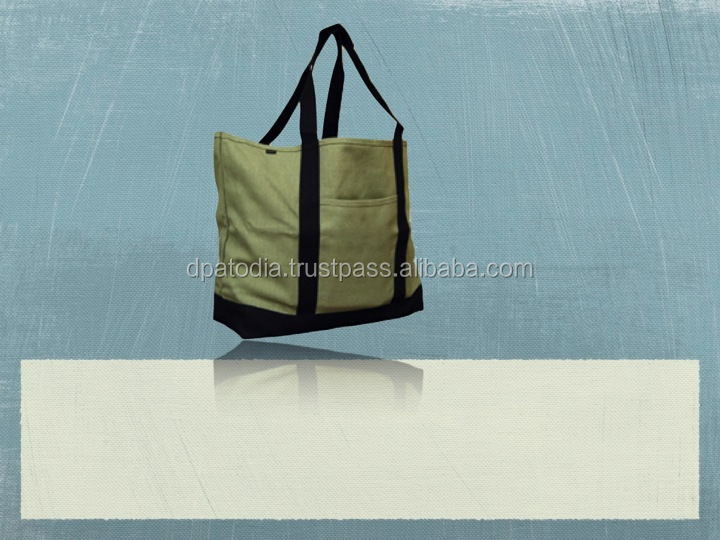 Canvas XL Shopping Tote Bag