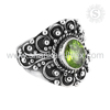 Valentine'S ! 925 Sterling Silver Jewelry Peridot, Indian Silver Jewerly, Oxidized Silver Jewerly Ring Suppliers