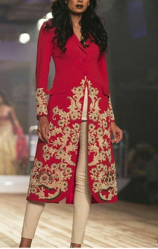 Red Heavy Embroidered wedding & Party Wear Dresses