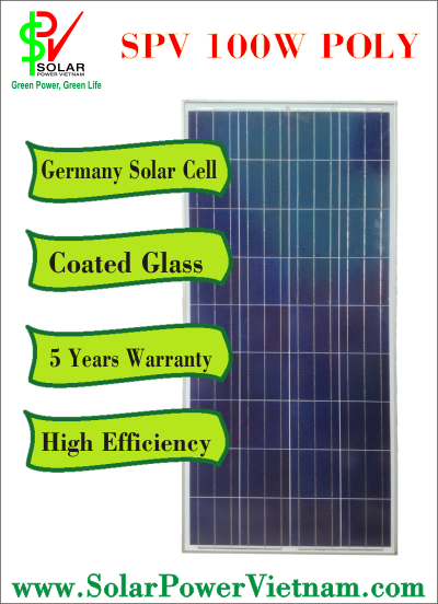 SPV Solar Panel 100W Polocrystalline Cell Germany