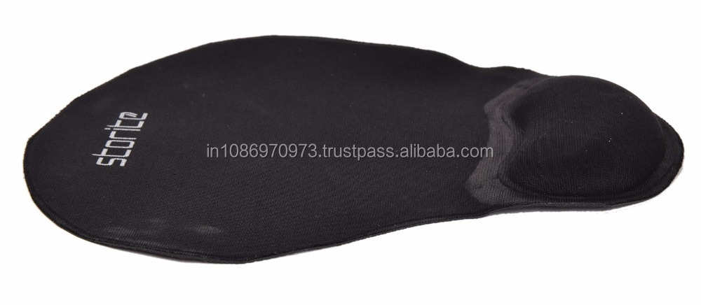 New Wholesale Black Color Wrist Comfort Mouse Pad With Gel For PC/Notebook/Laptop at Best Price
