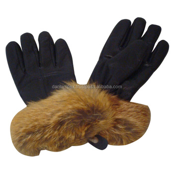 Plain Leather Fashion Gloves